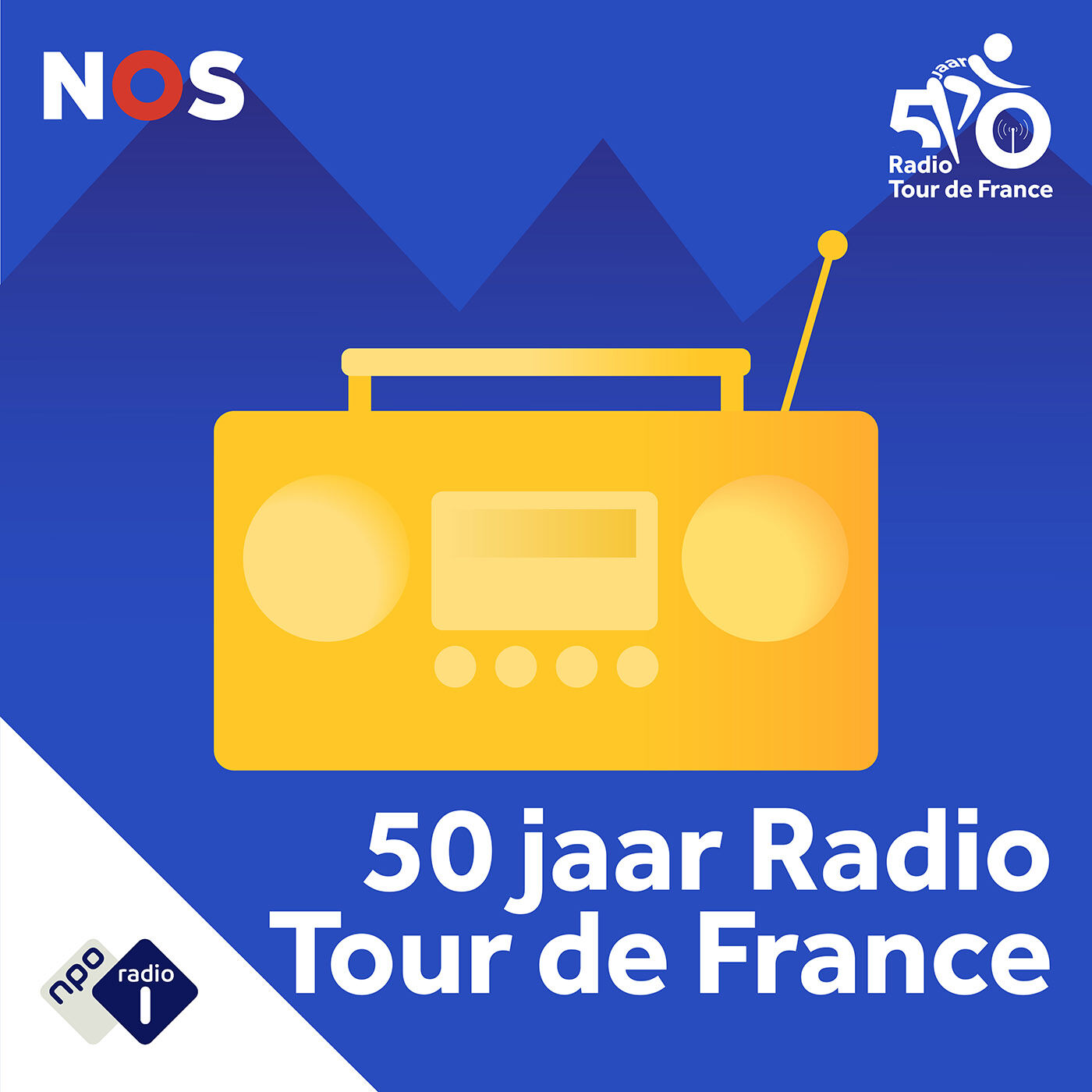 50 jaar Radio Tour de France logo