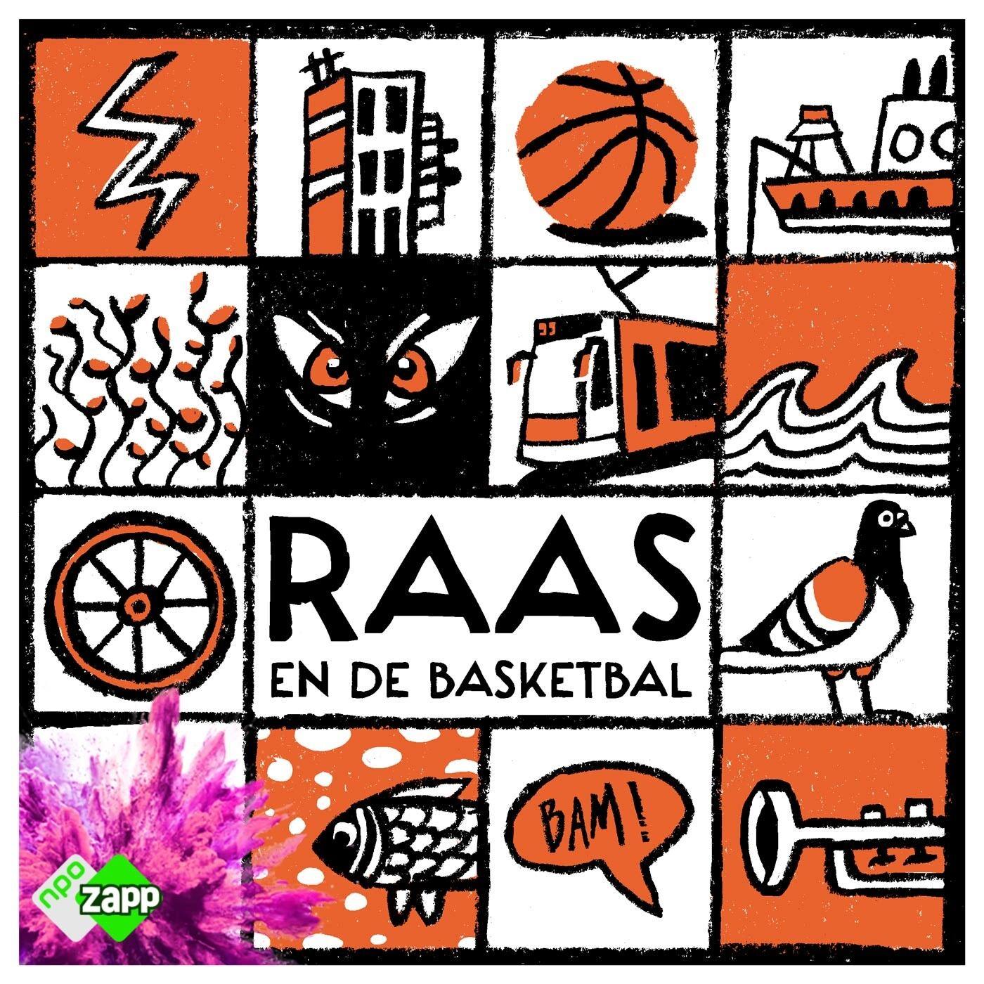 Raas en de basketbal logo